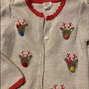 Girls 3T Christmas lot- Mudpie sweater & shirts